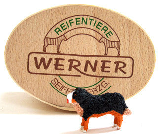 Christian Werner Bernese Mountain Dog in Wood Chip Gift Box