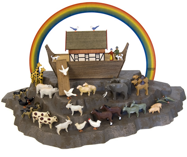 Mountain Display Platform - 3 tier - for Christian Werner's Small Noah's Ark