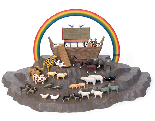 Mountain Display Platform - 4 tier - for Christian Werner's Small Noah's Ark
