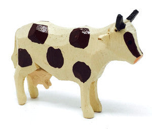 "Cow, hand-carved - 1-1/4"" / Size Small"