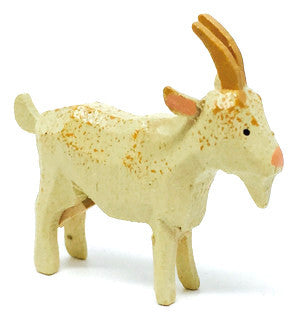 "Goat, hand-carved - 1-5/8"" / Size Small"