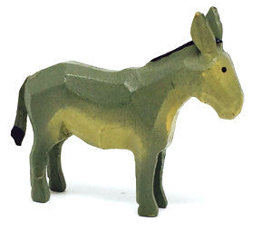 "Donkey, hand-carved - 1-1/2"" / Size Small"
