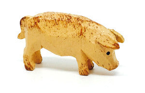 "Pig, hand-carved - 5/8"" / Size Small"