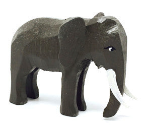 "Elephant (Male), hand-carved - 2"" / Size Small"
