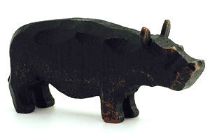 "Hippopotamus, hand-carved - 1-1/4"" / Size Small"