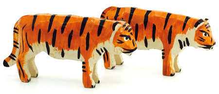 "Tigers, Pair of hand-carved - 1"" / Size Small"