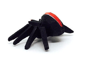 "Black Widow Spider, hand-carved - 1-1/8"" / Size Small"
