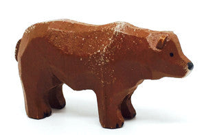 "Brown Bear, hand-carved - 1"" / Size Small"