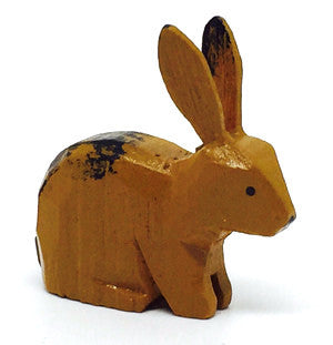"Rabbit, hand-carved - 1"" / Size Small"