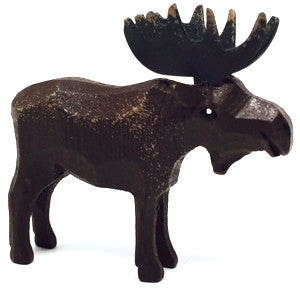 "Moose (Male), hand-carved - 2"" / Size Small"