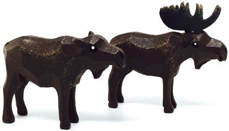 "Moose, Pair of hand-carved - 2"" / Size Small"