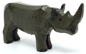 "Rhinoceros, hand-carved - 2"" / Size Small"