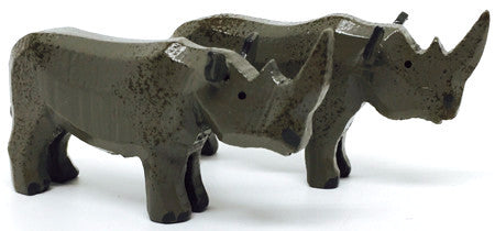 "Rhinoceros, Pair of hand-carved - 1-1/4"" / Size Small"