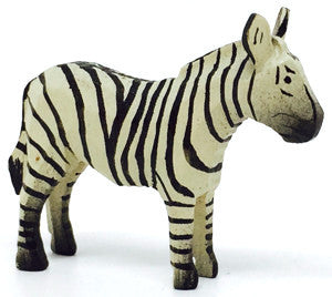 "Zebra, hand-carved - 1-1/2"" / Size Small"