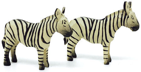 "Zebras, Pair of hand-carved - 1-1/2"" / Size Small"