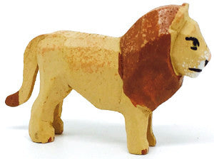 "Lion (Male), hand-carved - 1-1/4"" / Size Small"