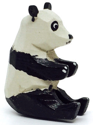 "Panda (Female), hand-carved - 1-1/4"" / Size Small"
