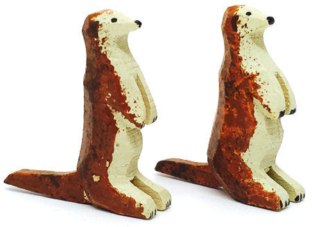"Otters, Pair of hand-carved - 7/8"" / Size Small"