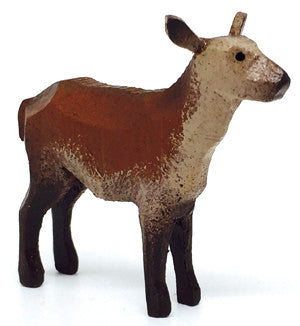 "Red Deer (Female), hand-carved - 1-7/8"" / Size Small"
