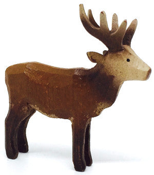 "Red Deer (Male), hand-carved - 1-7/8"" / Size Small"