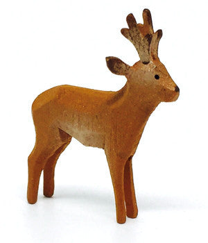 "Roe Deer (Male), hand-carved - 1-1/2"" / Size Small"