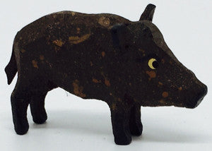 "Wild Boar (Female), hand-carved - 7/8"" / Size Small"