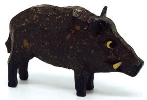 "Wild Boar (Male), hand-carved - 7/8"" / Size Small"