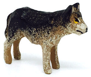 "Wolf, hand-carved - 15/16"" / Size Small"