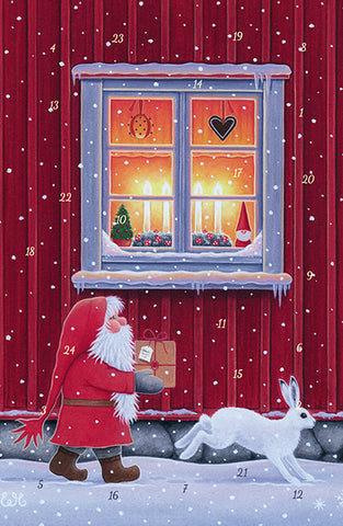 Christmas Delivery Advent Calendar GREETING CARD / Eva Melhuish