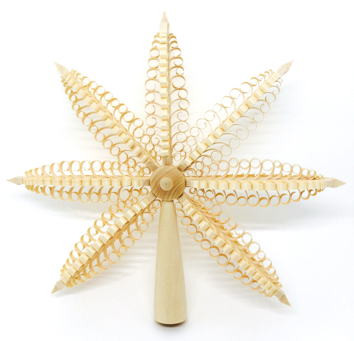 Christmas Tree (Spanbaum) Finial - Three Dimensional Trees - 9""