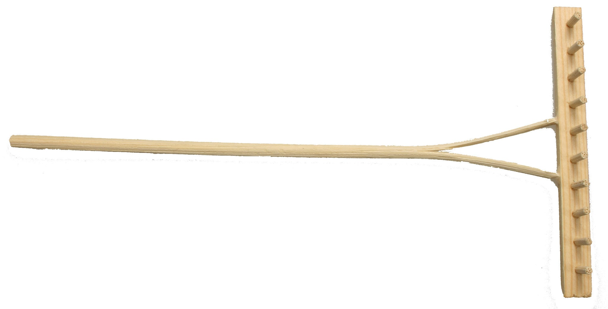 "Wooden Rake - 4-1/4"" long"