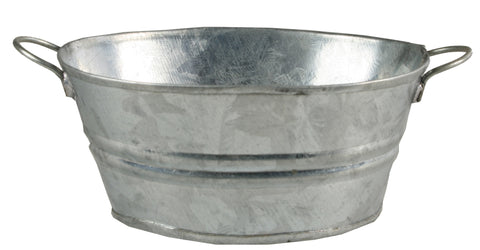 "Metal Wash Tub - Oval - 1"" tall"