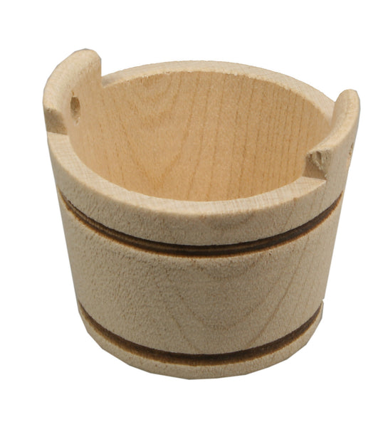 "Wooden Tub / Bucket - 3/4"" tall"