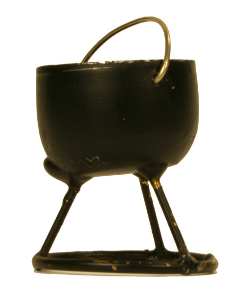 "Open Fire Cooking Pot on Stand - 1-1/2"" tall"