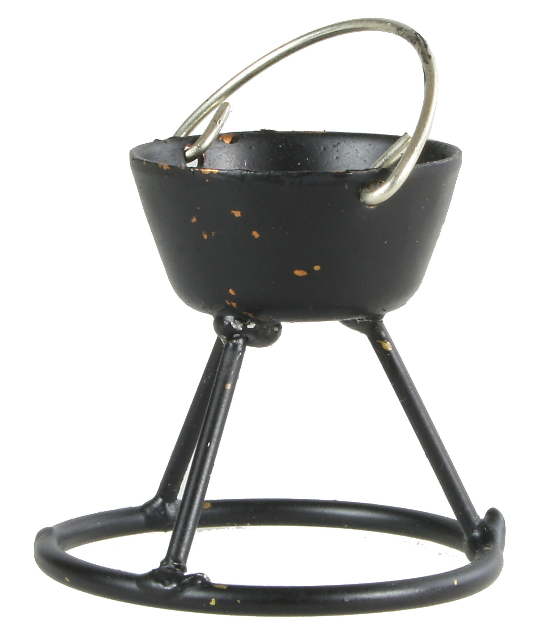 "Open Fire Cooking Pot on stand - 1-1/8"" tall"