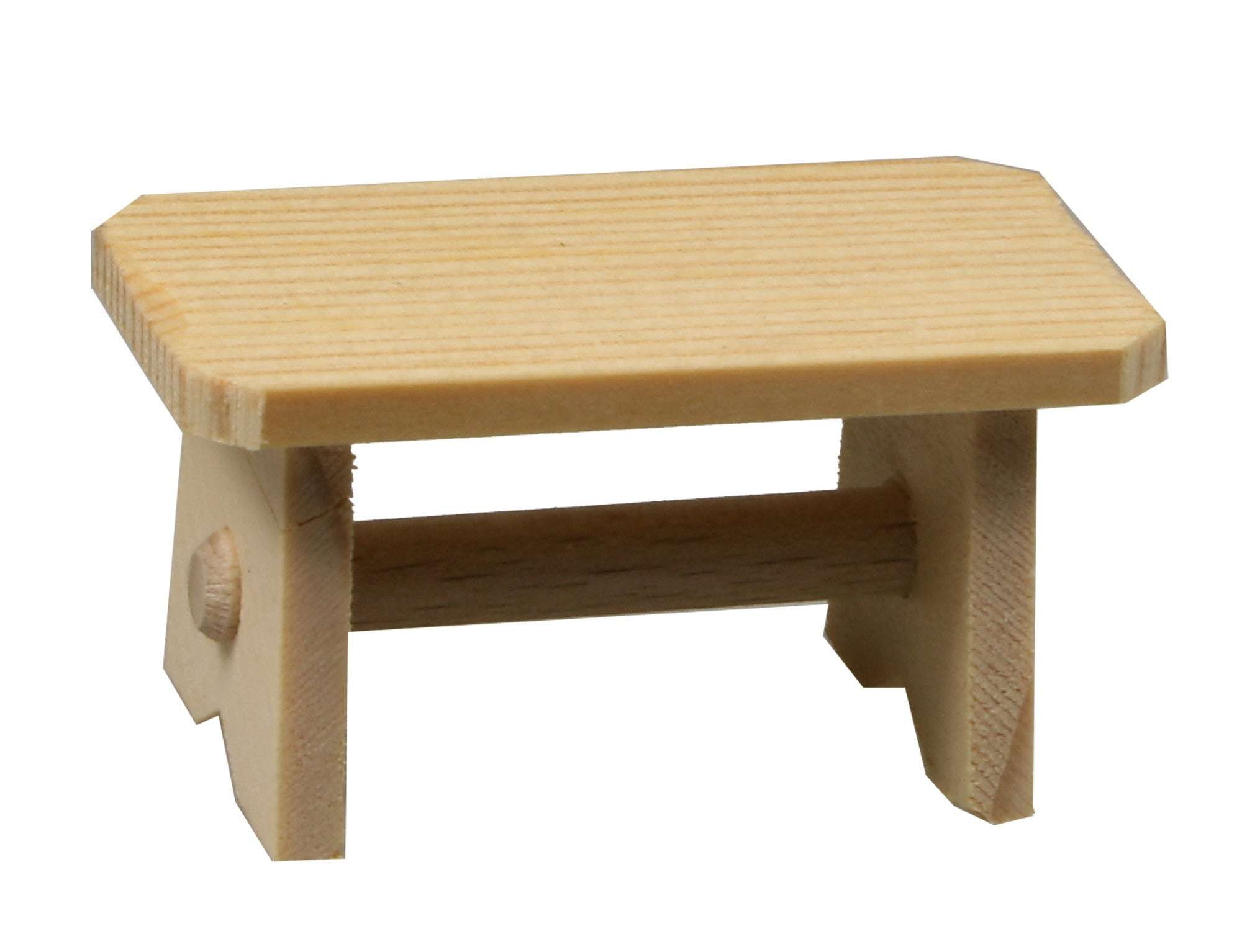 "Wooden Bench or Table - 1"" tall"