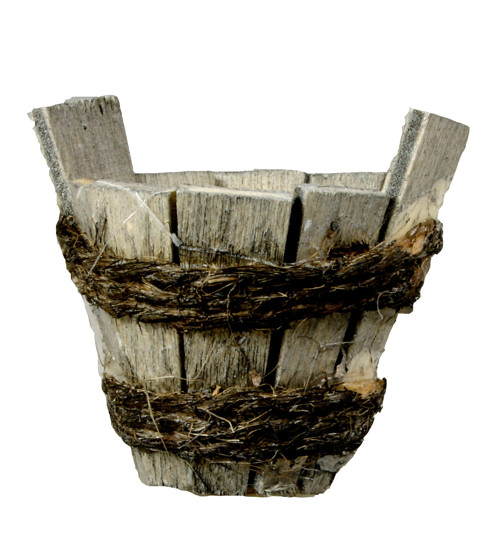 "Rustic Wooden Tub - 1-1/8"" tall"