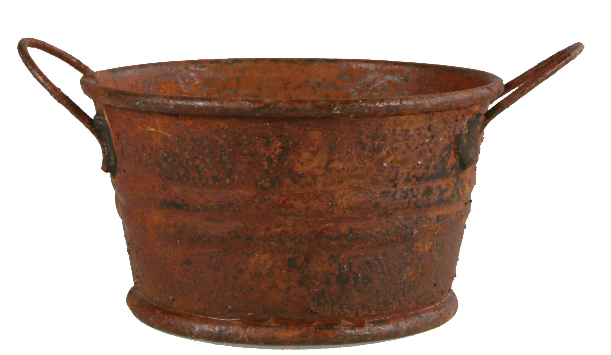 "Rusty Metal Washpan - 3/4"" tall"