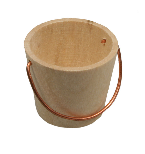 "Wooden Pail with Handle - 1"" tall"