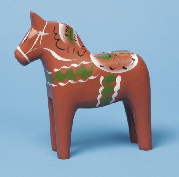 Antique Red Dala Horse - 3""