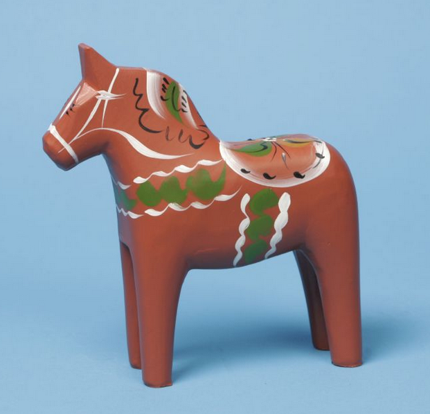 Antique Red Dala Horse - 4""