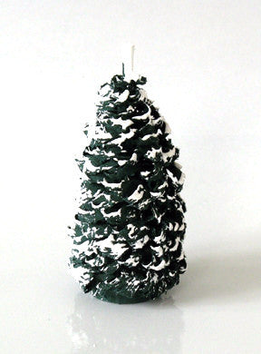 Snow-capped Shaved Wooden Evergreen, 4""