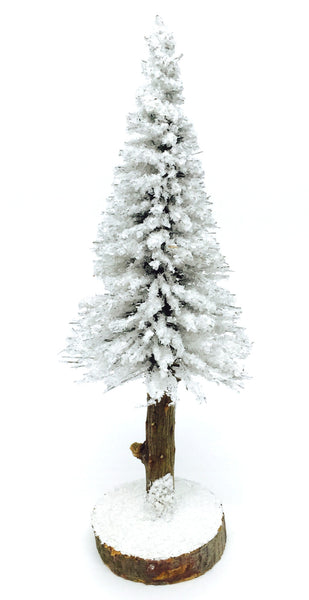 Tall Snow-Covered Evergreen - 6-1/2""