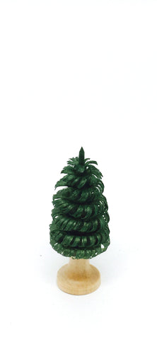 Dark Green Hand-Shaved Tree - 2""