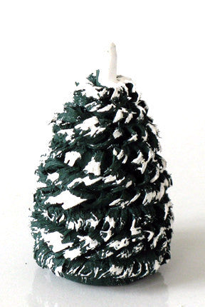 Snow-capped Shaved Wooden Evergreen, 2-1/4""