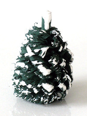 Snow-capped Shaved Wooden Evergreen, 3/4""