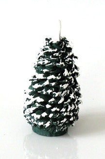 Snow-capped Shaved Wooden Evergreen, 3-1/4""