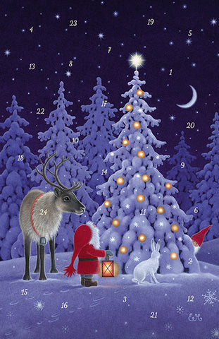 Forest Lights Advent Calendar GREETING CARD / Eva Meluish