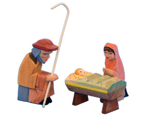 Mary, Joseph, and Jesus Nativity Set, Helbig Workshop