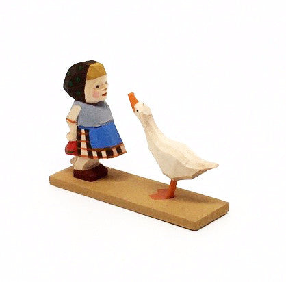 Girl with Goose and Doll